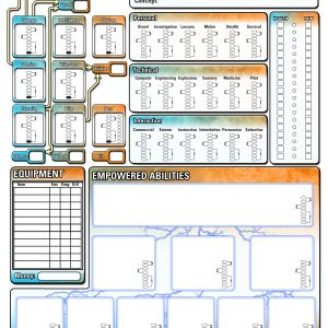 character sheet empowered fillable